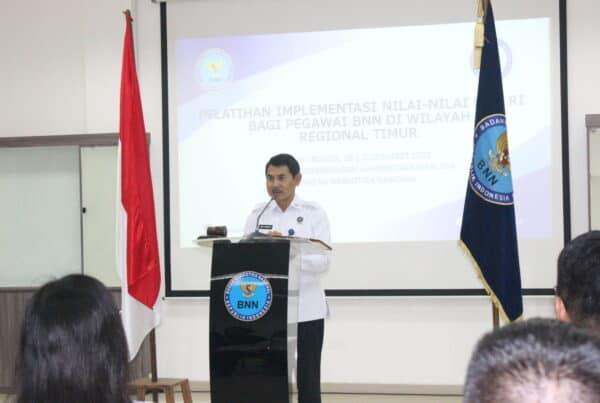 Pelatihan Implementasi Nilai-Nilai BNN RI Bagi Pegawai BNN Di Wilayah Regional Timur